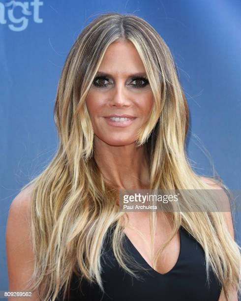Fashion Model / TV Personality Heidi Klum attends the NBC's 'America's Got Talent' Judge Cut Rounds at NBC Universal Lot on April 27 2017 in...