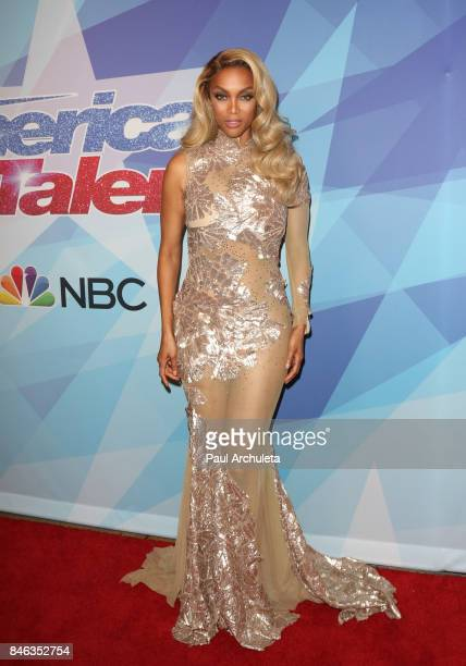 Fashion Model / TV Personality Tyra Banks attends NBC's 'America's Got Talent' season 12 live show at Dolby Theatre on September 12 2017 in Hollywood...