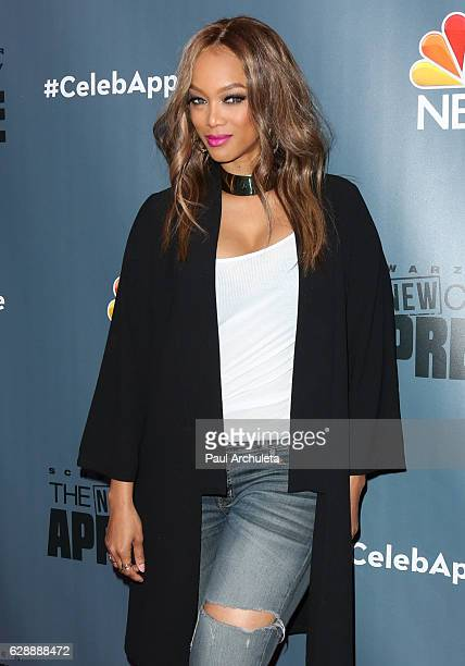 Fashion Model / TV Personality Tyra Banks attends the QA for NBC's 'The New Celebrity Apprentice' at NBC Universal Lot on December 9 2016 in...
