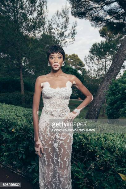 Fashion model Winnie Harlow is photographed for Paris Match whilst attending the Amfar Gala at the Eden Roc Hotel on May 25 2017 in Antibes France