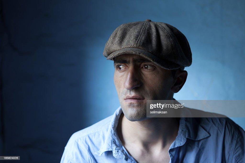Fashion Model With Newsboy Cap