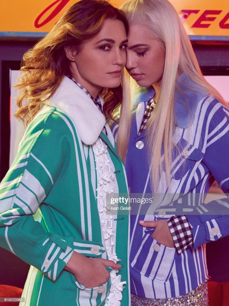 Fashion model Yasmin LeBon with her daughter Amber LeBon are photographed for Vanity Fair on January 19, 2017 in London, England. Photo by Alan Gelati/Contour by Getty Images)