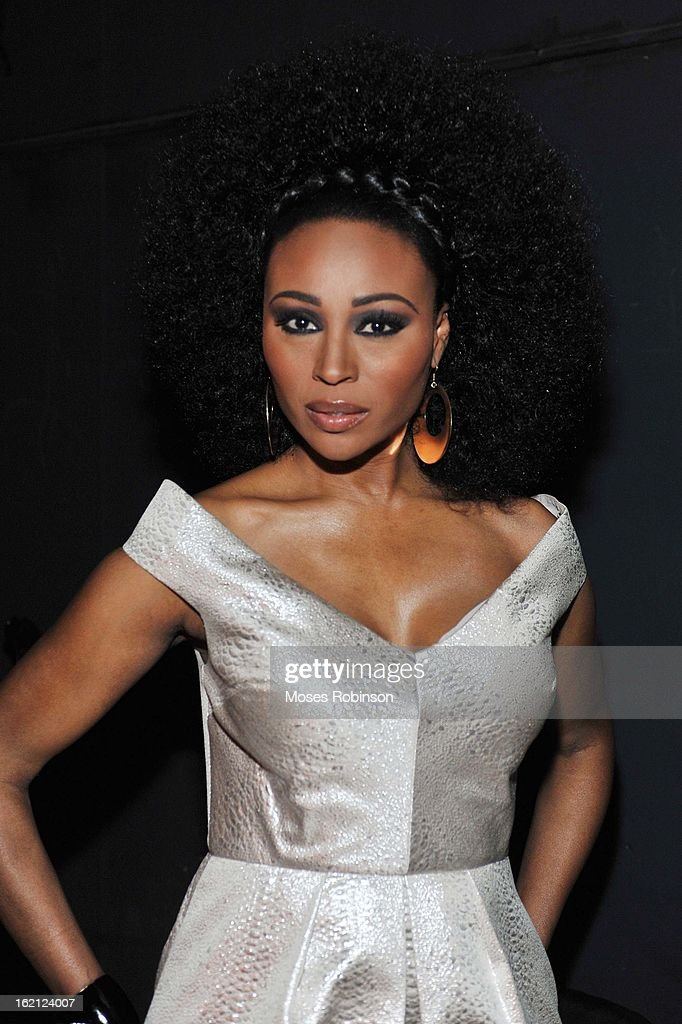 Fashion Model/Real Housewives of Atlanta cast member <a gi-track='captionPersonalityLinkClicked' href=/galleries/search?phrase=Cynthia+Bailey&family=editorial&specificpeople=3055318 ng-click='$event.stopPropagation()'>Cynthia Bailey</a> appears at the 2013 Bronner Bros. ICON Awards Presented By Clairol - Backstage on February 18, 2013 in Atlanta, United States.