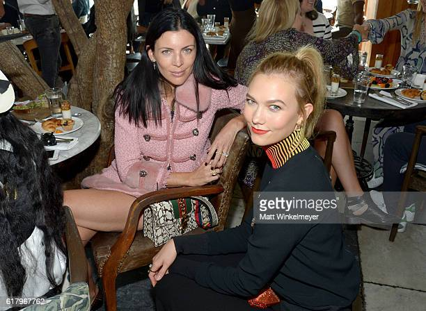 Fashion models Liberty Ross and Karlie Kloss attend The Fashion Awards 2016 Official Nominees Announcement Brunch at Soho House on October 25 2016 in...