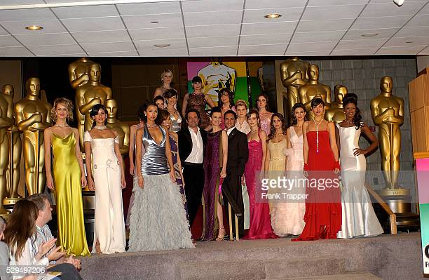 Fashion models on stage at the 77th Annual Academy Awards�� Fashion Preview held at the Academy of Motion Picture Arts and Sciences
