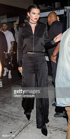 Fashion model/TV personality Kendall Jenner is seen arriving to Kendall Kylie PopUp Launch at Samsung 837 on September 7 2016 in New York City