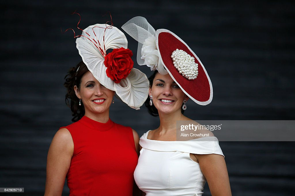 Fashion on Derby Day at Curragh racecourse on June 25, 2016 in Kildare, Ireland.
