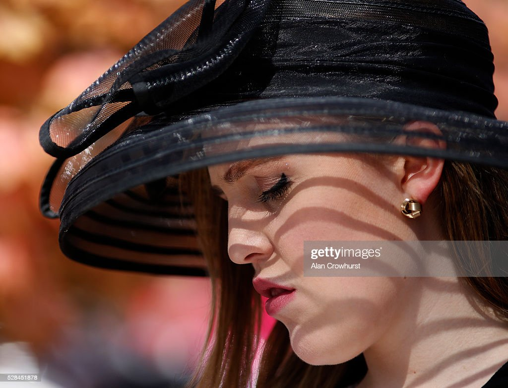 Fashion on Ladies Day at Chester racecourse on May 5, 2016 in Chester, England.
