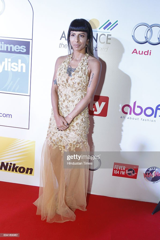 Fashion photographer Anushka Menon arriving at red carpet for Hindustan Times Most Stylish Awards 2016 at hotel JW Marriot, Aerocity on May 24, 2016 in New Delhi, India.