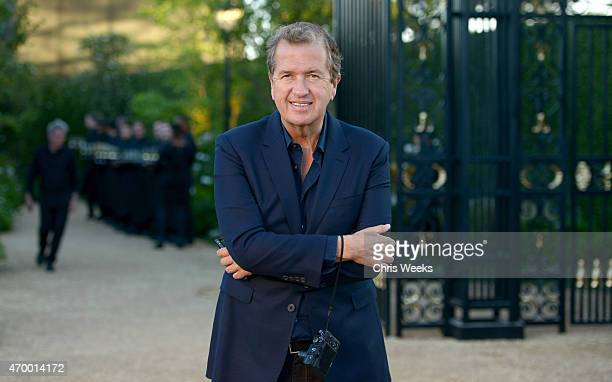 Fashion photographer Mario Testino attends the Burberry 'London in Los Angeles' event at Griffith Observatory on April 16 2015 in Los Angeles...