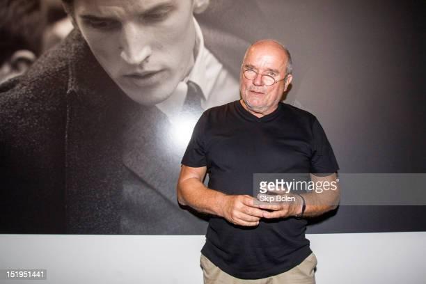 Fashion photographer Peter Lindbergh attends the J Lindeberg presentation during Spring 2013 MercedesBenz Fashion Week at Pier 59 Studios on...