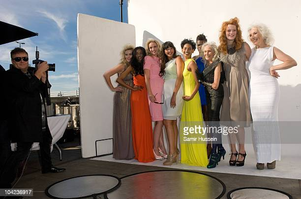 Fashion photographer Rankin does a shoot with models at Somerset House during London Fashion Week on September 18 2010 in London England