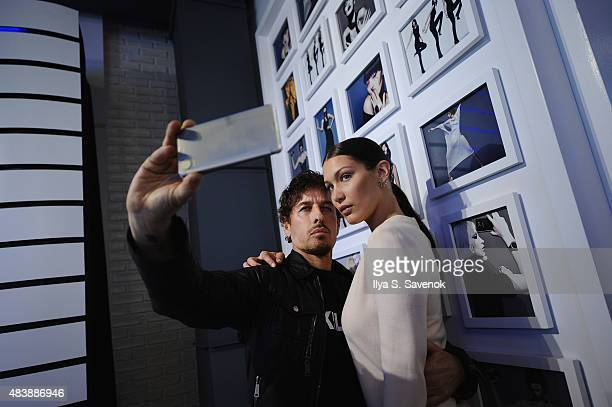 Fashion photographer Steven Klein and model Bella Hadid attend the launch of Samsung's fall Lookbook in celebration of the new Samsung Galaxy S6 edge...