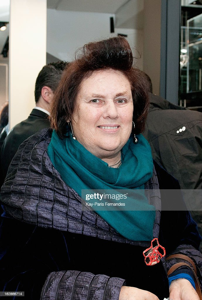 Fashion reporter Suzy Menkes attends the Karl Lagerfeld's Concept Store Opening as part of Paris Fashion Week on February 28, 2013 in Paris, France.