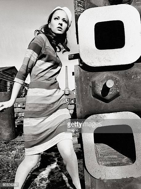 Fashion shooting Pop Art presented at a electrical substation Austria Photograph 1968