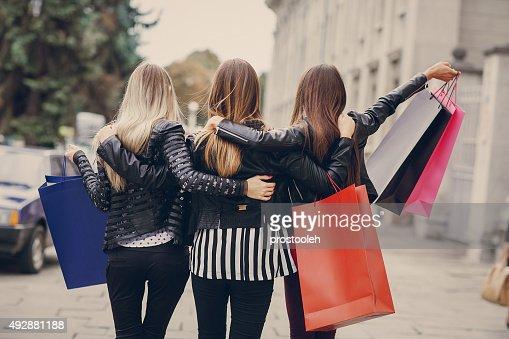 fashion shopping street : Stock Photo
