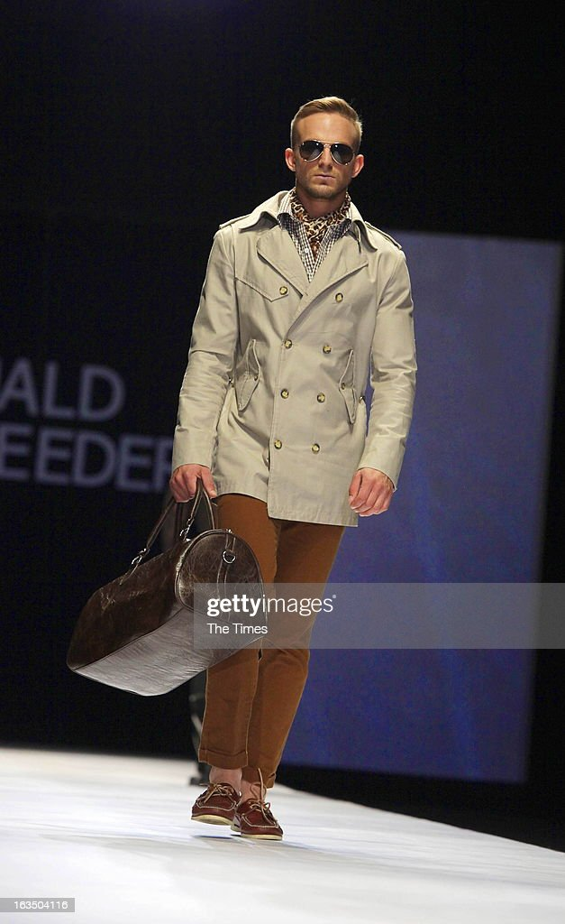 Fashion show by Ruald Rheeder at the Mercedes-Benz Fashion Week on March 9, 2013 in Newtown, Johannesburg, South Africa. Fashion lovers got to see the fashion trends for Autumn and Winter.