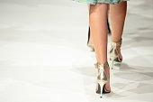 fashion model walking the catwalk