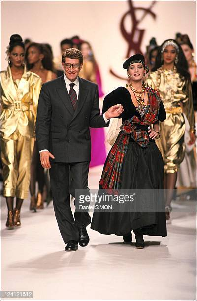 Fashion show ready to wear fall winter 91 92 in Paris France in March 1991 Yves Saint Laurent