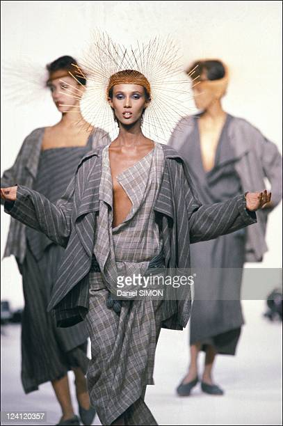 Fashion show ready to wear spring summer in Paris France on October 15 1982