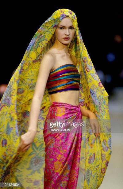 Fashion show Ready to wear Spring/Summer 1994 in Paris France on October 09 1993 Kenzo