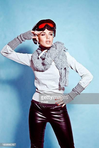 Portrait de la mode ski, hiver