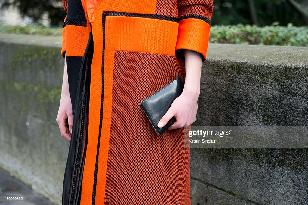 Fashion Student Claire Beerman wears a Freya Dalsjo jacket on day 5 of Paris Collections Women on March 01 2014 in Paris France