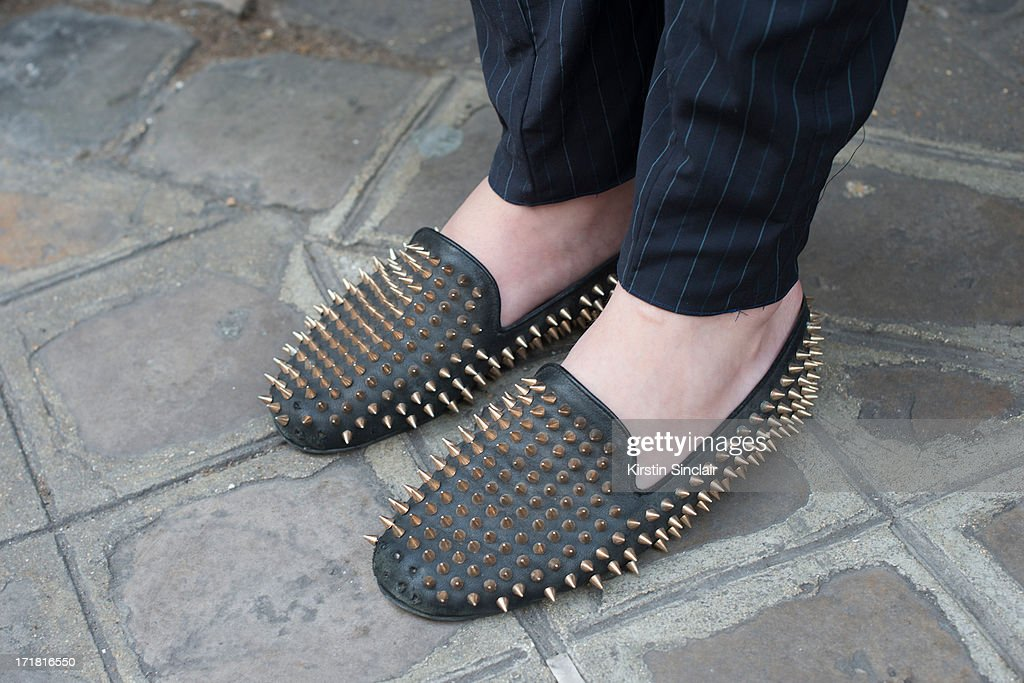 Fashion Student Nicolas Lecourf Mansion wears Unif clothing shoes on day 3 of Paris Collections: Men on June 28, 2013 in Paris, France.