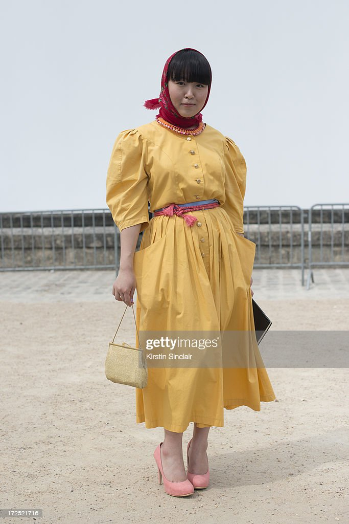 Fashion Student Sulgi Lee wears all vintage on day 1 of Paris Collections: Womens Haute Couture on July 01, 2013 in Paris, France.