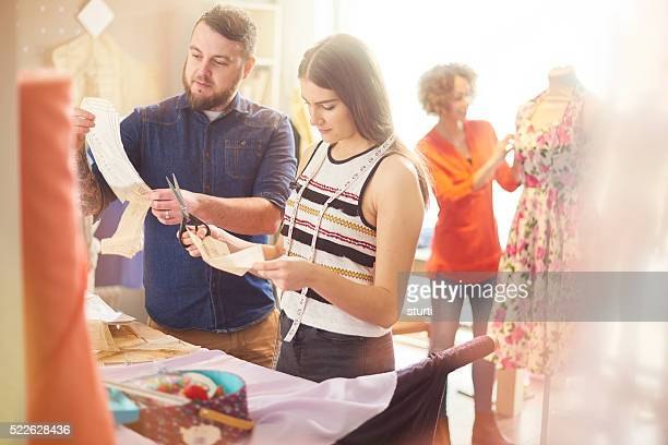 fashion student with male teacher