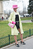 Fashion stylist and blogger Denisa Palsha wears all Chanel and Valentino shoes on day 8 of Paris Collections Women on March 10 2015 in Paris France