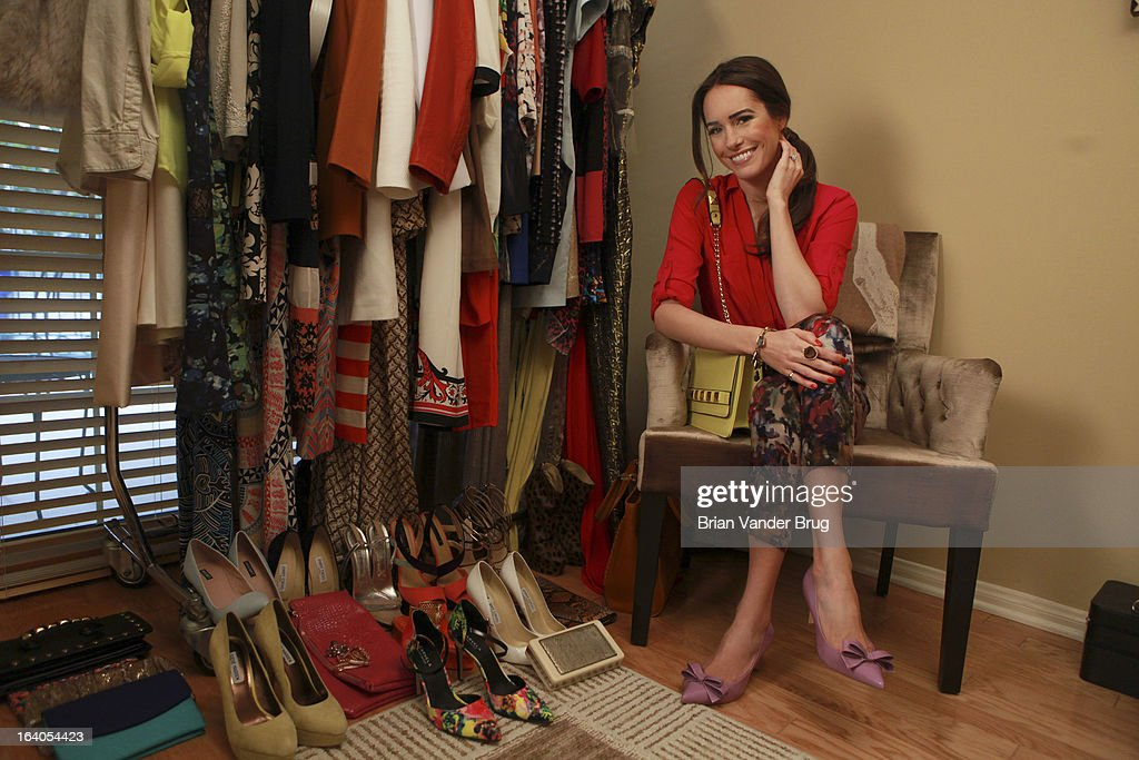 Fashion stylist and television personality Louise Roe is photographed at home in her closet for Los Angeles Times on February 21, 2013 in West Hollywood, California. PUBLISHED IMAGE.