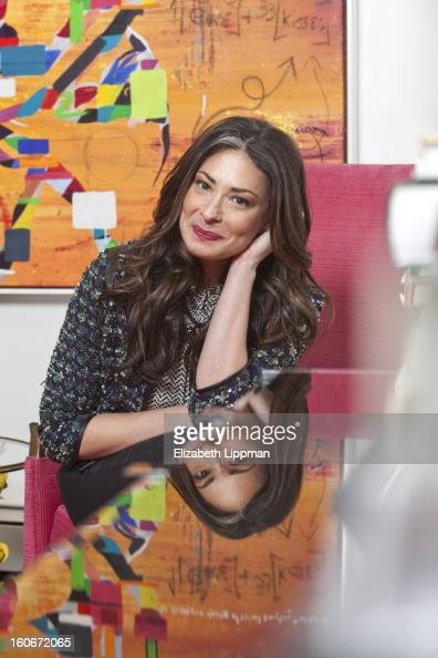 Fashion stylist and TV host Stacy London is photographed for New York Times on November 8 2012 in New York City