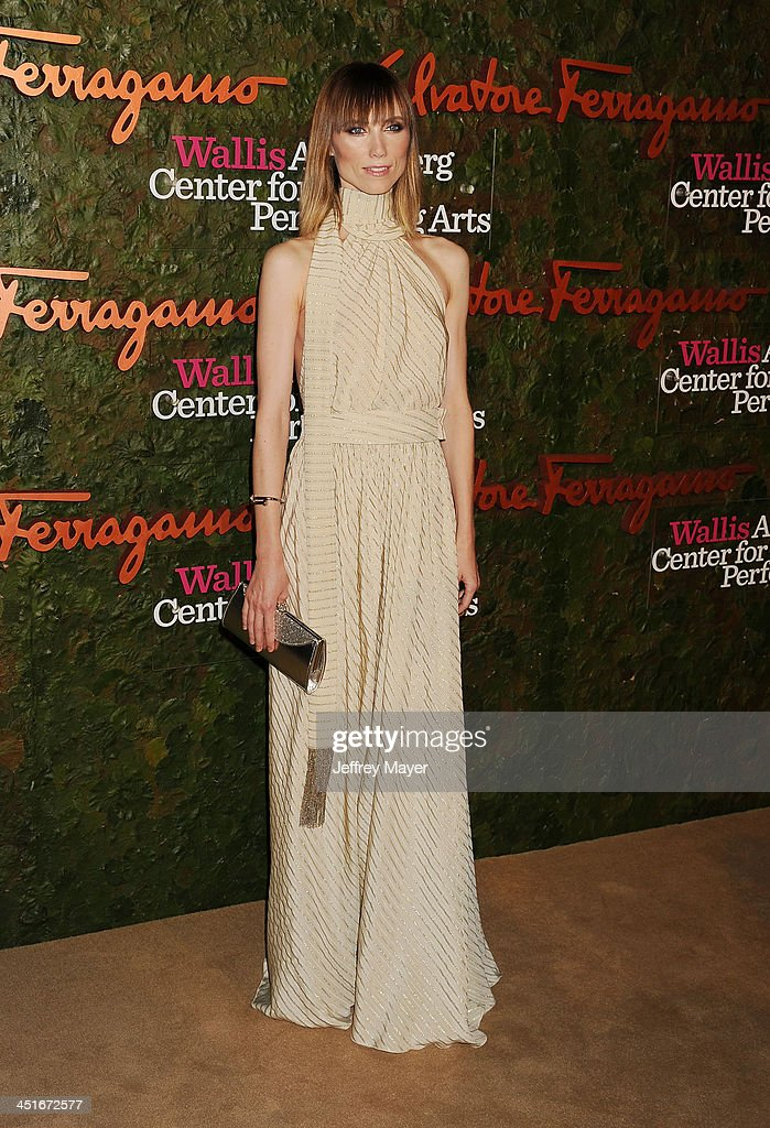 Fashion stylist Anya Ziourova arrives at the Wallis Annenberg Center For The Performing Arts Inaugural Gala at Wallis Annenberg Center for the Performing Arts on October 17, 2013 in Beverly Hills, California.