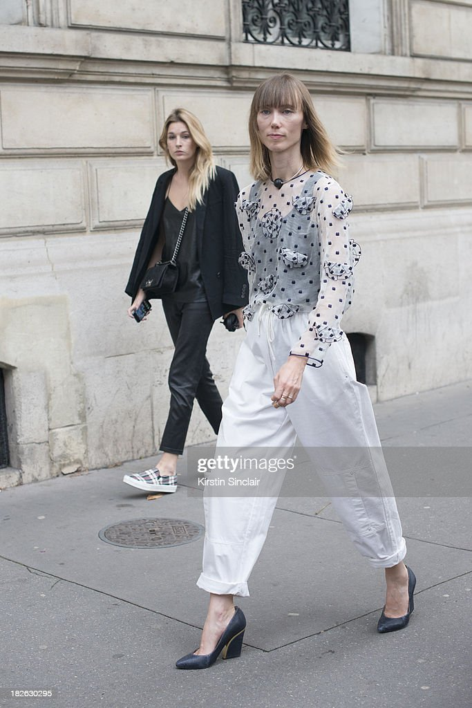 Fashion Stylist Anya Ziourova on day 6 of Paris Fashion Week Spring/Summer 2014, Paris September 29, 2013 in Paris, France.