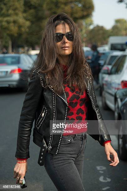 Fashion Stylist Barbara Martelo on day 2 of Paris Collections Women on September 24 2014 in Paris France
