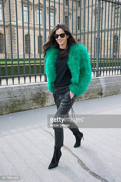 Fashion Stylist Barbara Martelo on day 4 during Paris Fashion Week Autumn/Winter 2016/17 on March 4 2016 in Paris France Barbara Martelo