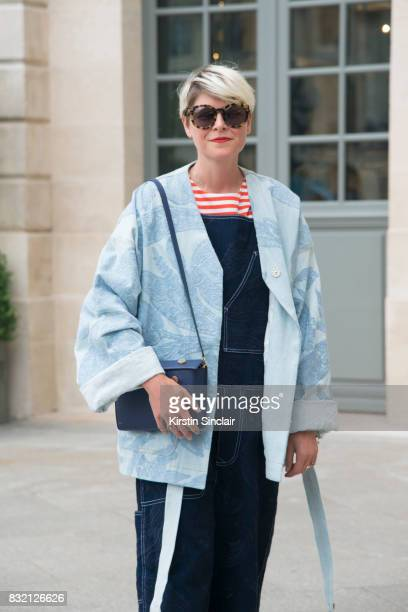 Fashion stylist Elisa Nalin day 2 of Paris Haute Couture Fashion Week Autumn/Winter 2017 on July 3 2017 in Paris France