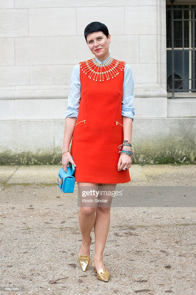 Fashion Stylist Elisa Nalin on day 6 of Paris Collections Women on March 02 2014 in Paris France