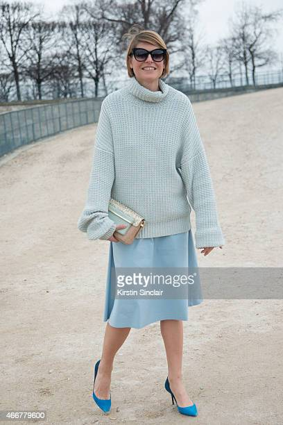 Fashion stylist Elisa Nalin on day 8 of Paris Collections Women on March 10 2015 in Paris France