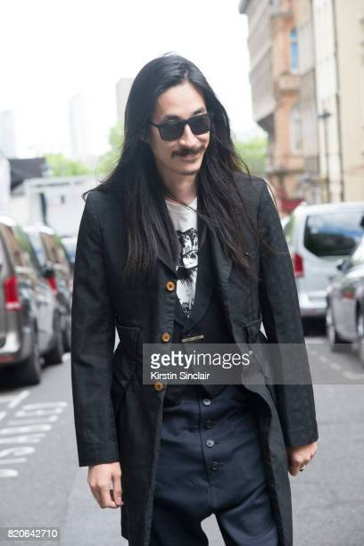 Fashion stylist Karlmond Tang on day 1 of London Collections Men on June 9 2017 in Paris France