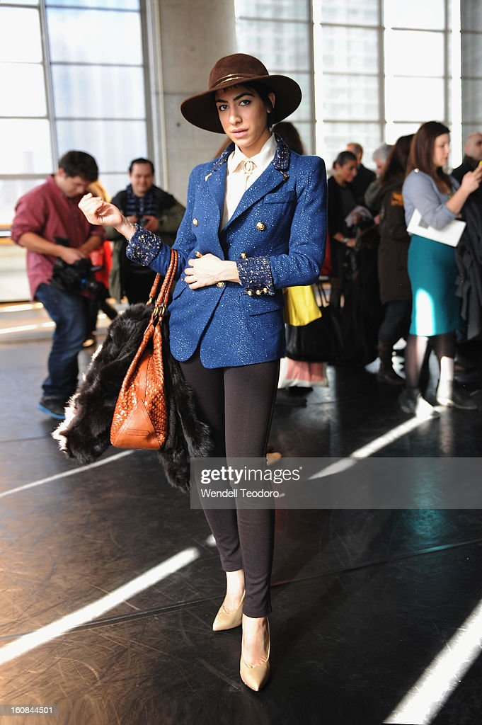 Fashion Stylist Leah Snow attends the Rita Vinieris Debut Eveningwear Collection presentation during Fall 2013 Mercedes-Benz Fashion Week at the Baryshnikov Arts Center on February 6, 2013 in New York City.