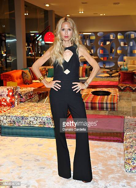 Fashion stylist Rachel Zoe attends Roche Bobois' Fashion Meets Design Dinner hosted By Rachel Zoe at Roche Bobois on August 26 2015 in West Hollywood...