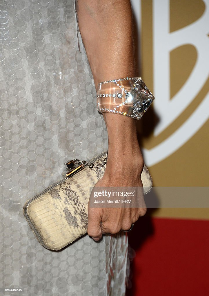 Fashion stylist Rachel Zoe (handbag detail) attends the 14th Annual Warner Bros. And InStyle Golden Globe Awards After Party held at the Oasis Courtyard at the Beverly Hilton Hotel on January 13, 2013 in Beverly Hills, California.