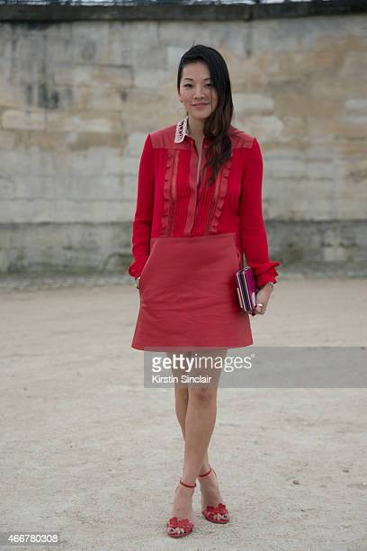 Fashion stylist Tina Leung on day 8 of Paris Collections Women on March 10 2015 in Paris France
