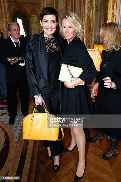 Fashion TV Host Cristina Cordula and Model Estelle Lefebure attend the 'International Women's Day Luncheon in Support of Equality and Safety for All'...