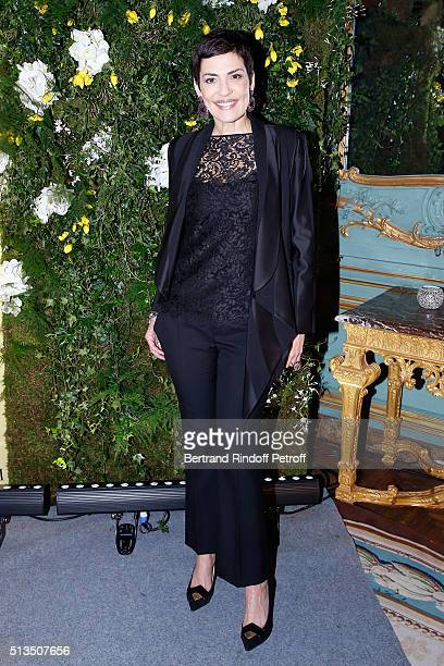 Fashion TV Host Cristina Cordula attends the 'International Women's Day Luncheon in Support of Equality and Safety for All' hosted by Swarovski as...