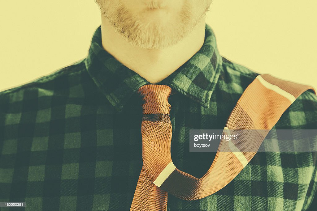 Moda vintage los caballeros con corbata roja : Foto de stock