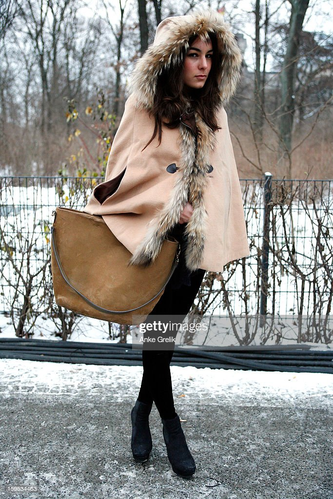 A Fashion Week guest attends Mercedes-Benz Fashion Week Autumn/Winter 2013/14 at venue on January 15, 2013 in Berlin, Germany.