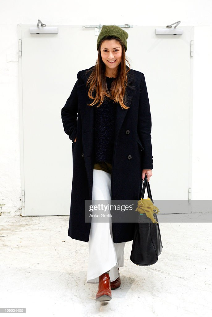 A Fashion Week guest wearing James Pearce skirt attends Premium at Mercedes-Benz Fashion Week Autumn/Winter 2013/14 at venue on January 15, 2013 in Berlin, Germany.